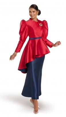 donna-vinci-suits-11947-red-navy