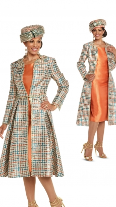 donna-vinci-suits-5615-orange