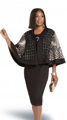 donna-vinci-suits-5745-black-beige